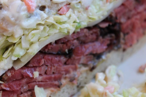 A close up of the best pastrami in the world. Can you smell it?